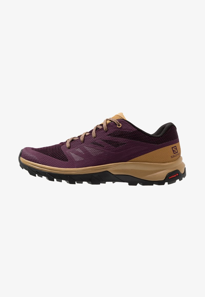 Salomon - OUTLINE - Hiking shoes - potent purple/bistre/taos taupe