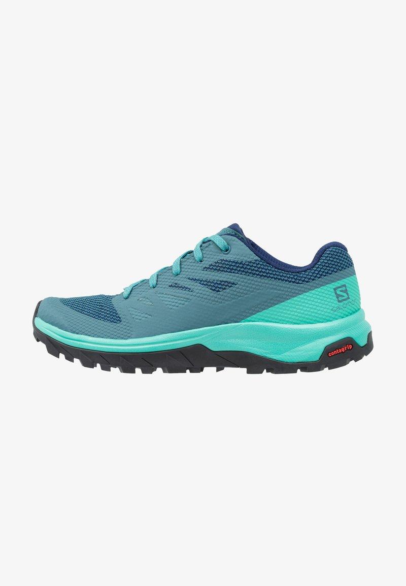 Salomon - OUTLINE - Hiking shoes - hydro/atlantis/medieval blue