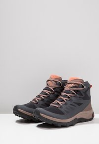 Salomon - OUTLINE MID GTX - Hiking shoes - ebony/deep taupe/tawny orange - 2