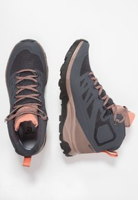 Salomon - OUTLINE MID GTX - Hiking shoes - ebony/deep taupe/tawny orange - 1