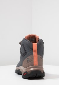 Salomon - OUTLINE MID GTX - Hiking shoes - ebony/deep taupe/tawny orange - 3