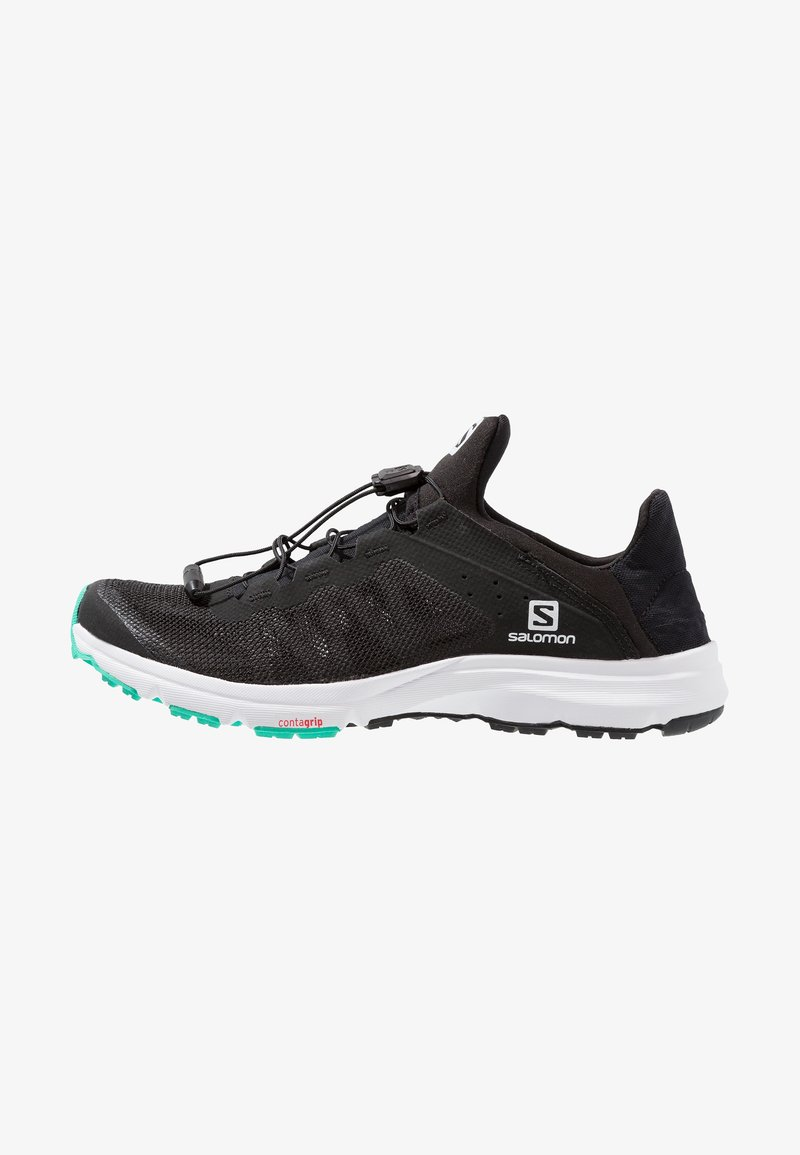 Salomon - AMPHIB BOLD - Neutral running shoes - black/white/electric green