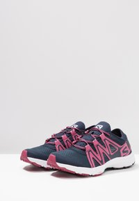 Salomon - CROSSAMPHIBIAN SWIFT 2 - Hiking shoes - navy blazer/malaga/ebony - 2