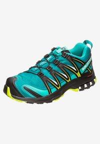 Salomon - Trail running shoes - deep lake/black/lime green - 2