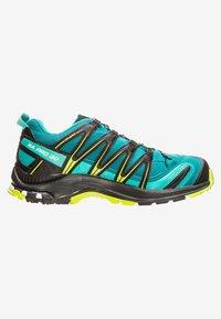 Salomon - Trail running shoes - deep lake/black/lime green - 6