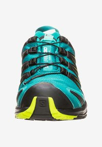 Salomon - Trail running shoes - deep lake/black/lime green - 5