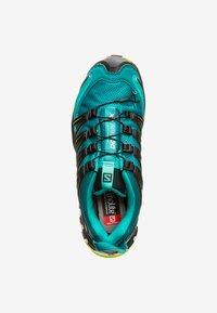 Salomon - Trail running shoes - deep lake/black/lime green - 1