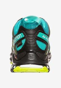 Salomon - Trail running shoes - deep lake/black/lime green - 3