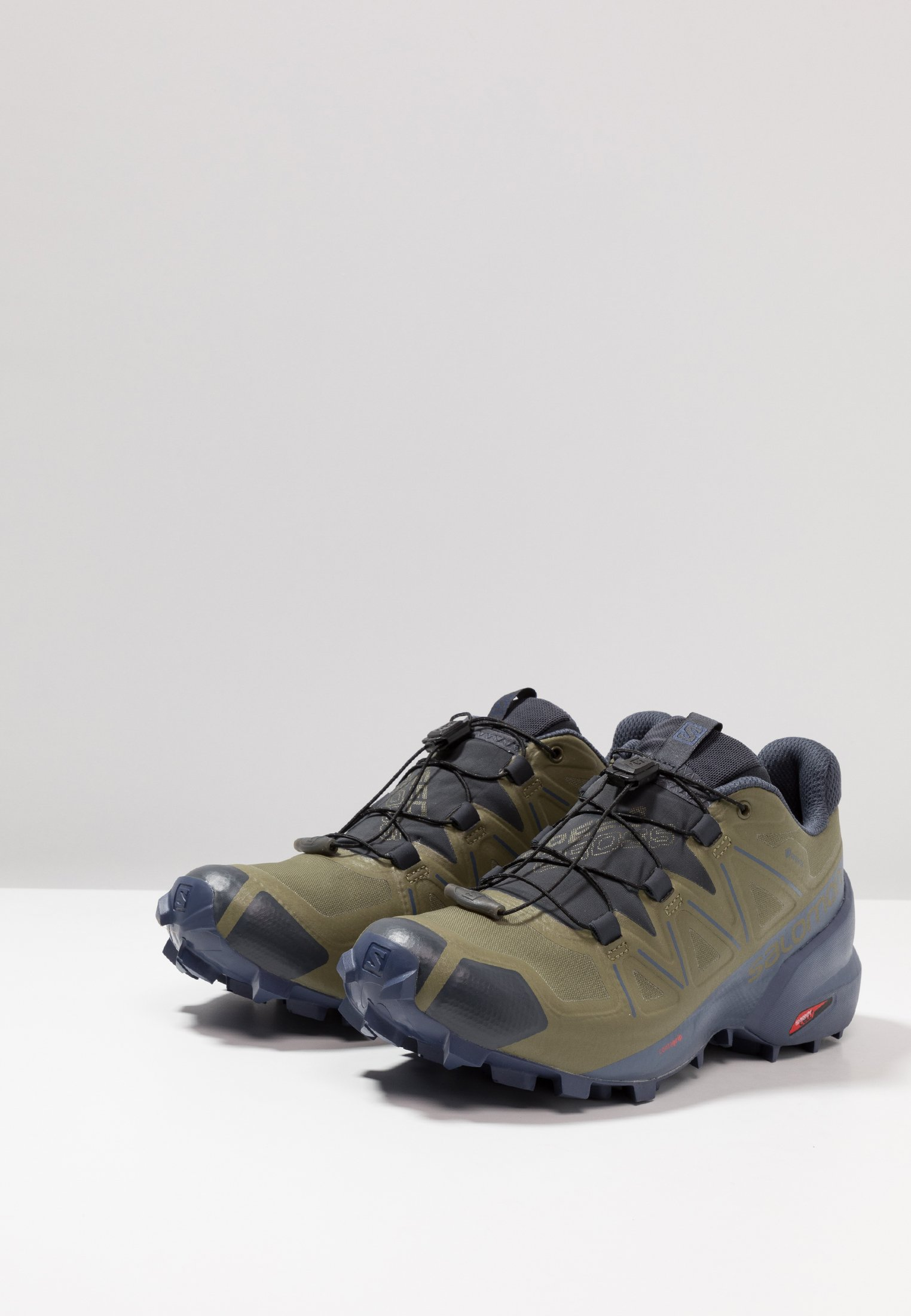 Salomon Speedcross 5 Gtx - Chaussures De Running Burnt Olive/crown Blue/india Ink