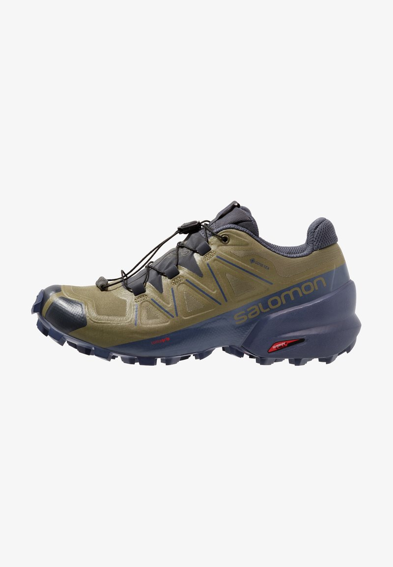 Salomon - SPEEDCROSS 5 GTX - Laufschuh Trail - burnt olive/crown blue/india ink