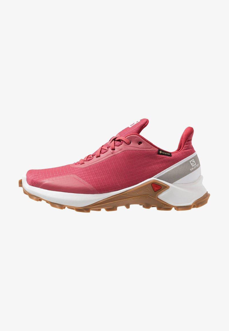 Salomon - ALPHACROSS GTX - Neutral running shoes - garnet rose/white