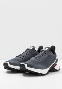 Salomon - ALPHACROSS - Zapatillas de trail running - india ink/white/black - 2