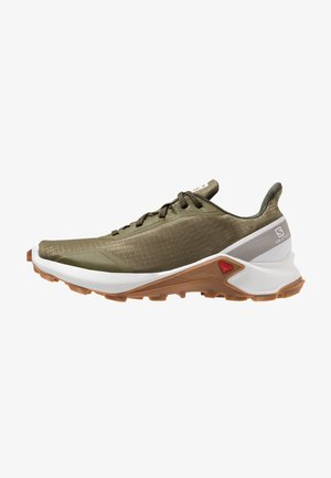 ALPHACROSS - Trail running shoes - burnt olive/white