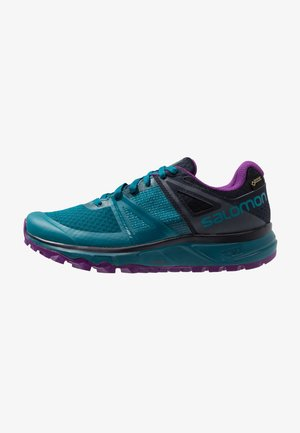 TRAILSTER GTX - Trail running shoes - deep lagoon/navy blazer/purple magic