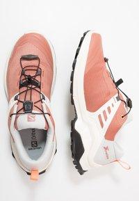 Salomon - X RAISE - Hiking shoes - cedar wood/lunar rock/cantaloupe - 1