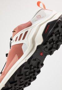 Salomon - X RAISE - Hiking shoes - cedar wood/lunar rock/cantaloupe - 5