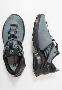 Salomon - X RAISE - Hiking shoes - stormy weather/black/lead - 1