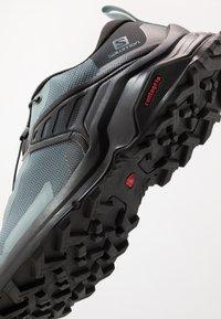 Salomon - X RAISE - Hiking shoes - stormy weather/black/lead - 5