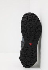 Salomon - X RAISE - Hiking shoes - stormy weather/black/lead - 4