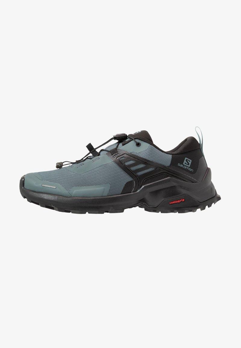 Salomon - X RAISE - Hiking shoes - stormy weather/black/lead
