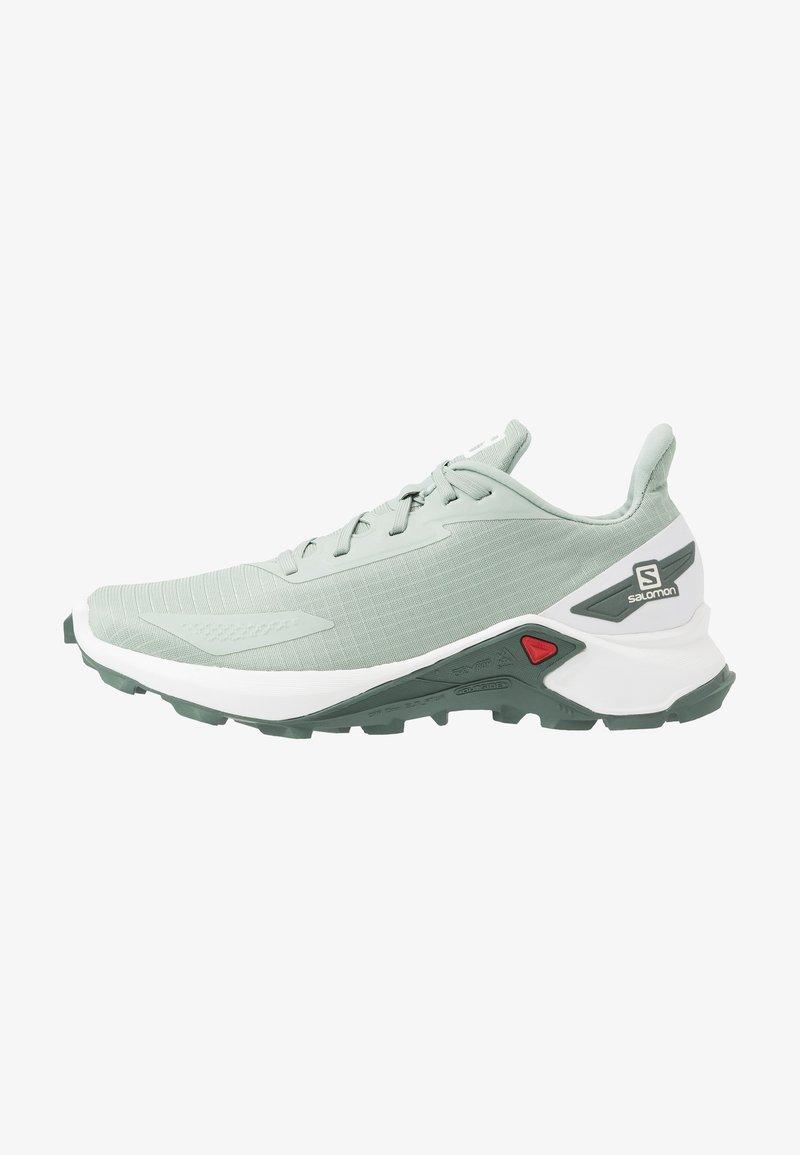 Salomon - ALPHACROSS BLAST - Trail running shoes - aqua gray/white/balsam green