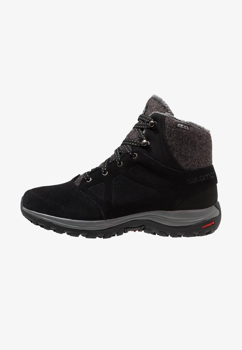 Salomon - ELLIPSE FREEZE CS WP - Winter boots - black/phantom/beach glass