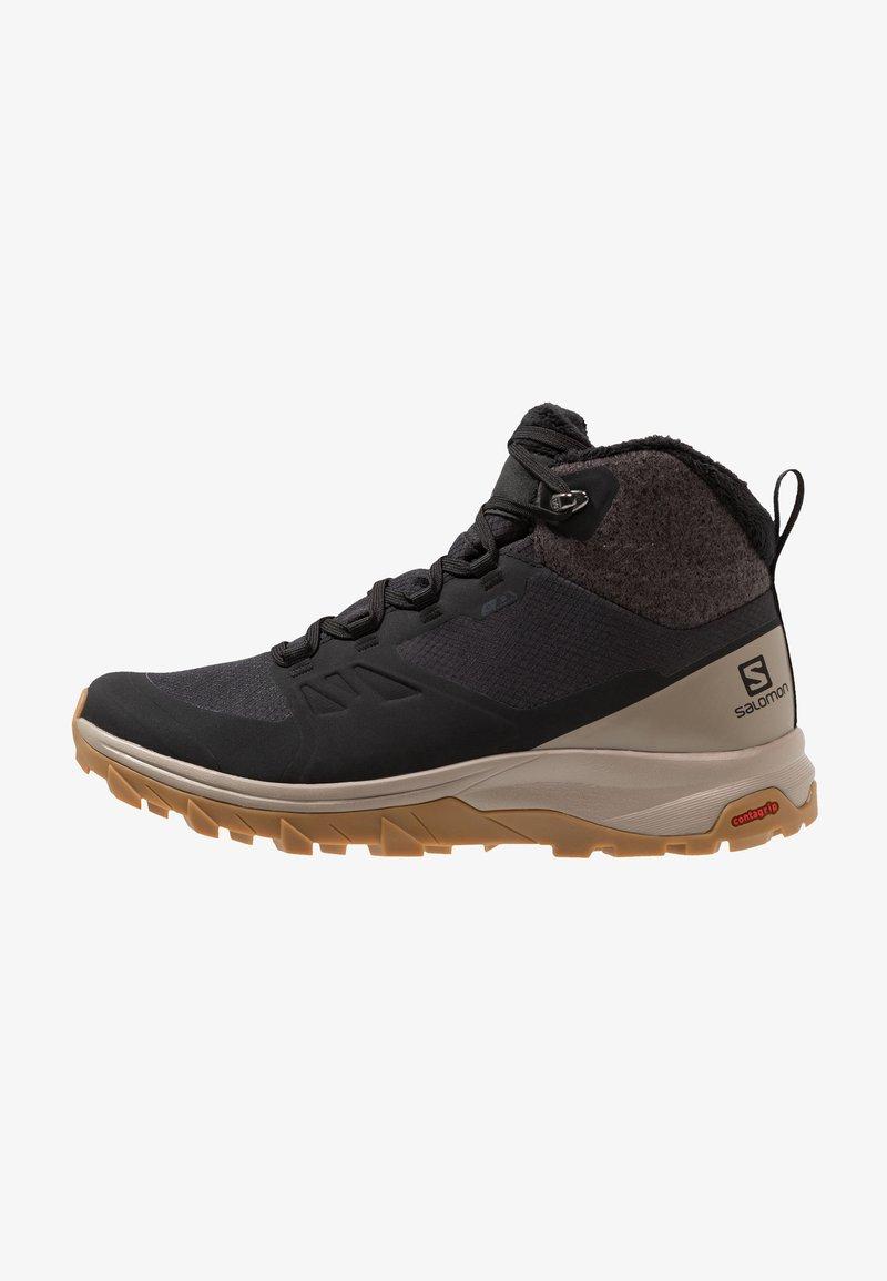 Salomon - OUTSNAP CSWP - Hiking shoes - black/vintage kaki