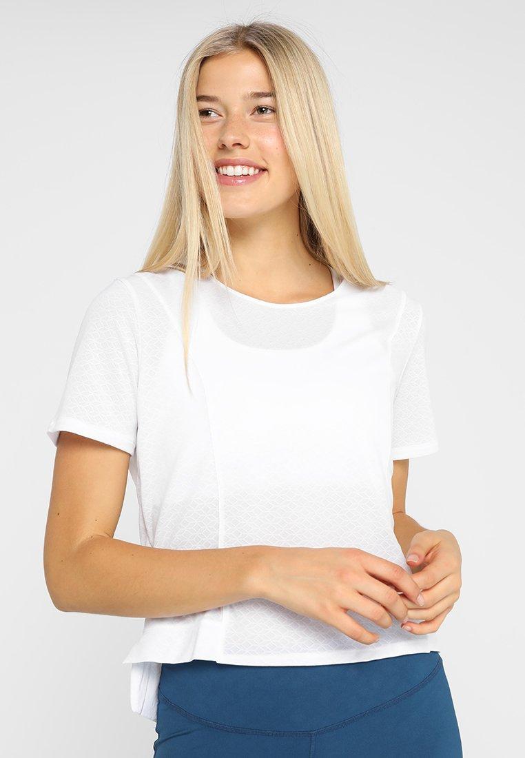 Salomon - ELEVATE AERO TEE - T-Shirt print - white