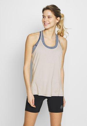 COMET FLOW TANK - Sports shirt - lunar rock/white/heather