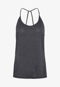 Salomon - COMET FLOW TANK - Sports shirt - black/ebony/heather - 3