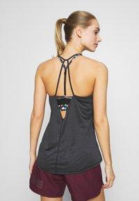 Salomon - COMET FLOW TANK - Sports shirt - black/ebony/heather - 2