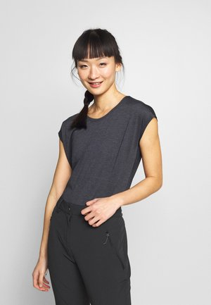 COMET TEE  - T-shirts - black/ebony/heather