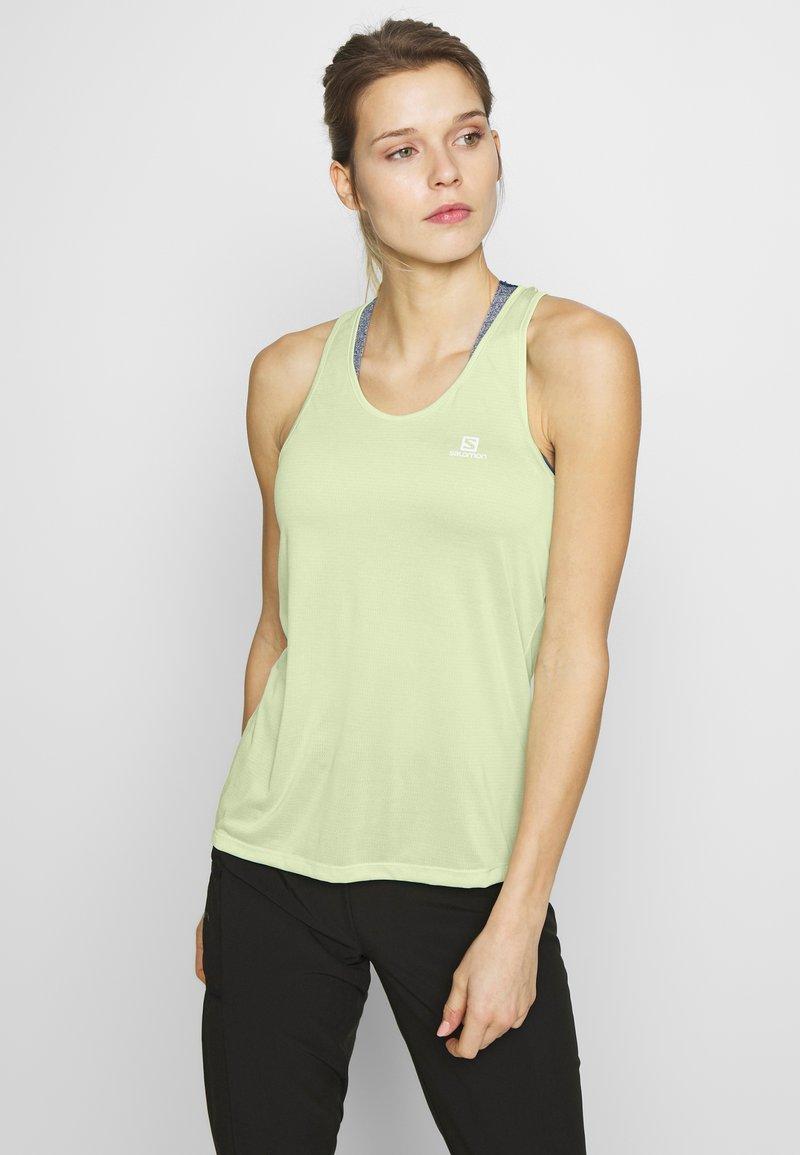 Salomon - AGILE TANK - Sports shirt - seacrest/white/heather