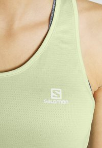 Salomon - AGILE TANK - Sports shirt - seacrest/white/heather - 4