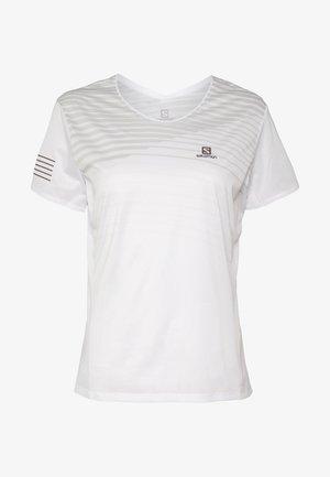 SENSE TEE - Camiseta estampada - white/lunar rock