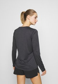 Salomon - AGILE TEE - Sports shirt - ebony/black/heather - 2