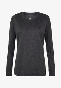 Salomon - AGILE TEE - Sports shirt - ebony/black/heather - 3