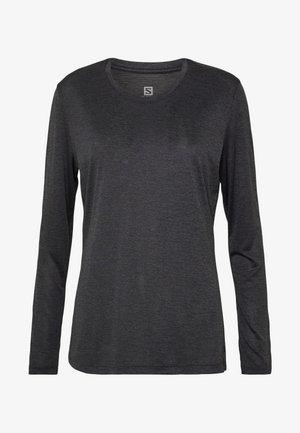 AGILE TEE - Sports shirt - ebony/black/heather