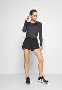 Salomon - AGILE TEE - Sports shirt - ebony/black/heather - 1
