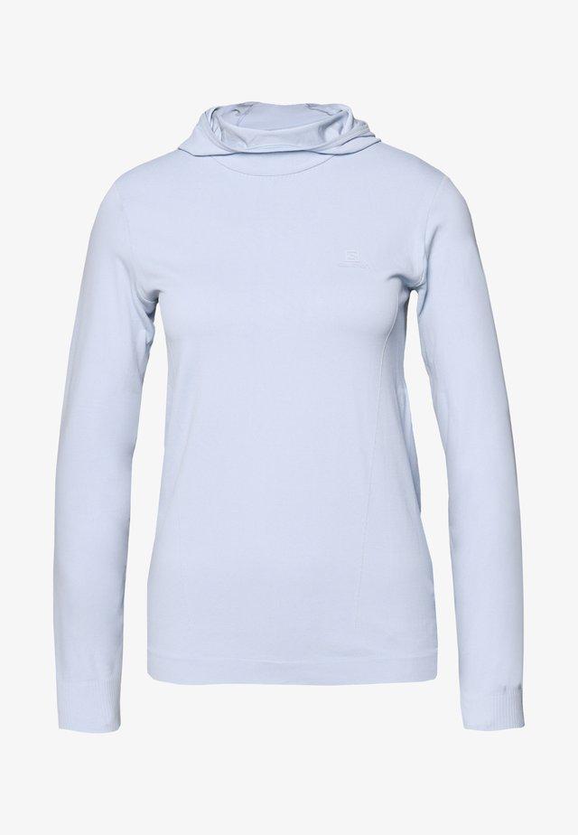 COMET SEAMLESS HOODIE - Long sleeved top - kentucky blue/artic ice