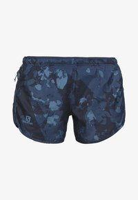 Salomon - AGILE SHORT - Urheilushortsit - dark denim - 5