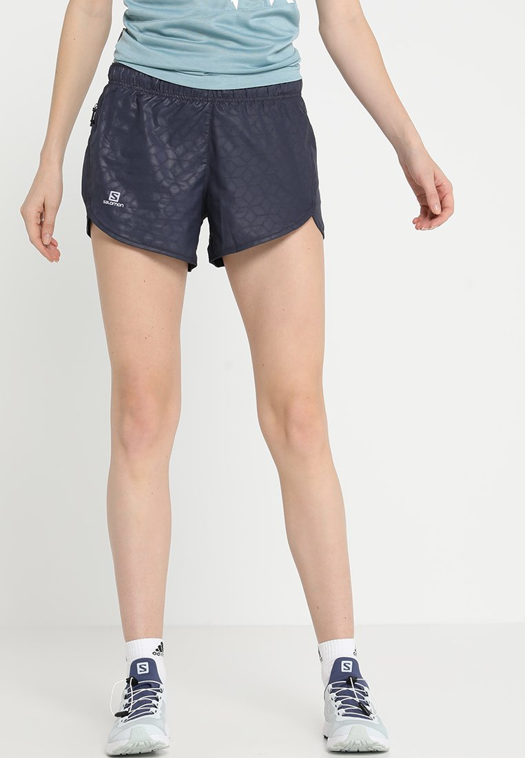 Salomon - AGILE SHORT - kurze Sporthose - anthracite