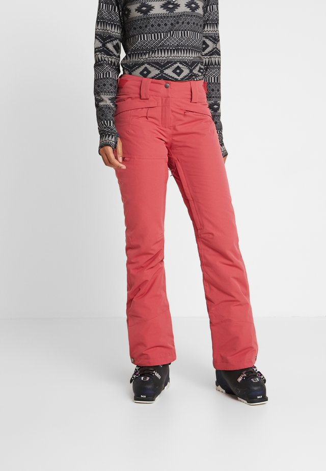 SNOW PANT - Snow pants - garnet rose