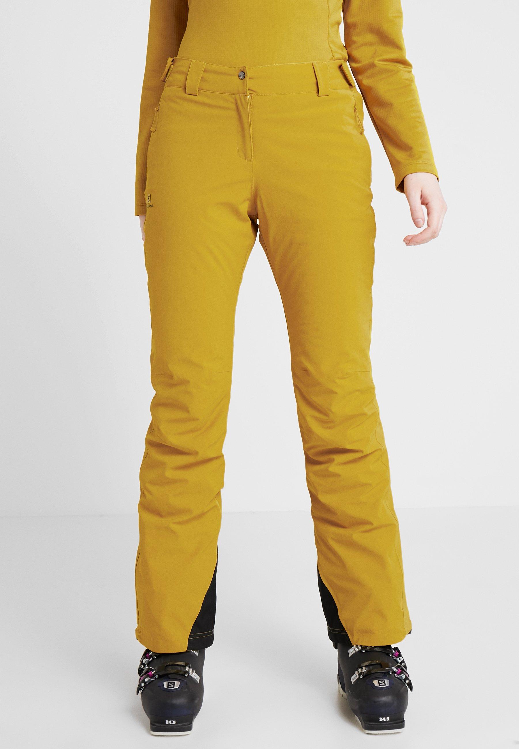 Salomon ICEMANIA PANT - Pantalon de ski golden palm