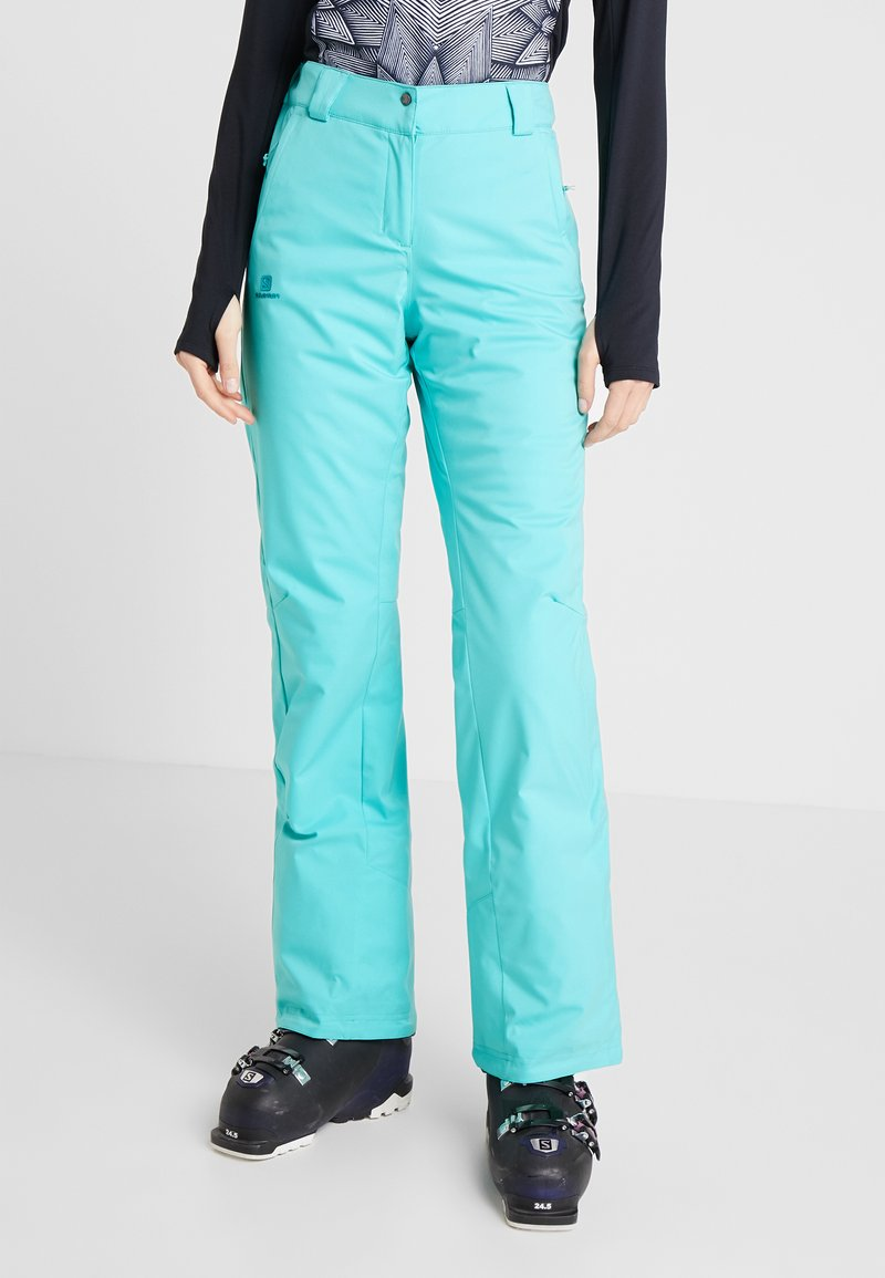 Salomon - STORMSEASON PANT - Täckbyxor - blue turquoise