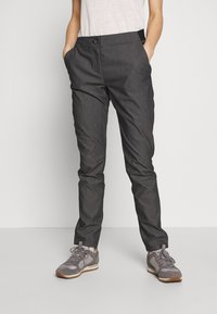 Salomon - WAYFARER TAPERED - Outdoor trousers - black heather - 0