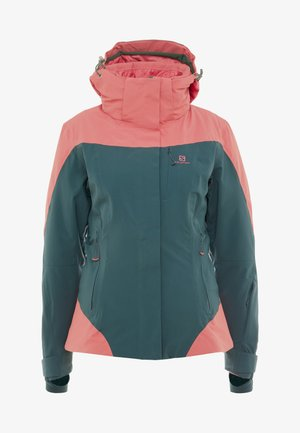 ICEROCKET - Skijacke - green gables/garnet rose