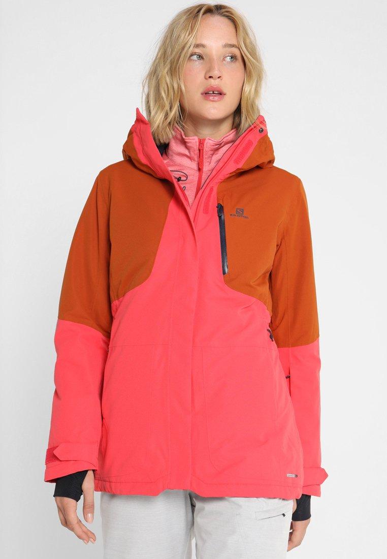 Salomon - SNOW  - Ski jacket - hibiscus/umber