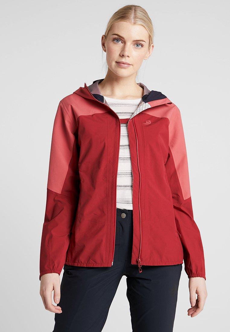Salomon - OUTLINE  - Hardshell jacket - rio red/garnet rose
