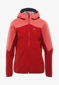Salomon - OUTLINE  - Hardshell jacket - rio red/garnet rose - 3